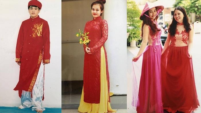 Cho thuê áo dài cách tân truyền thống quận Bình Thạnh