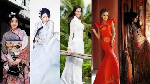 Cho thuê trang phục các nước