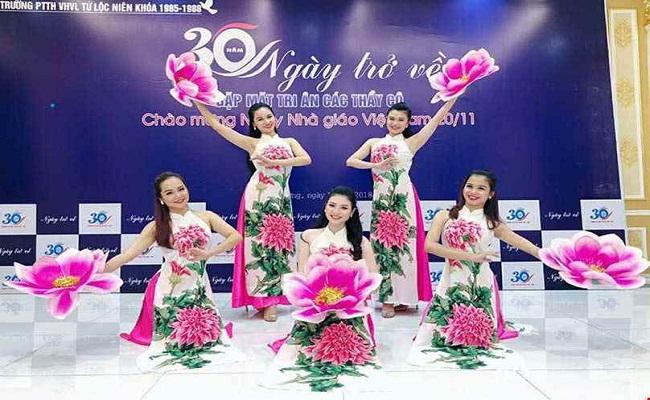 Cho thuê trang phục múa hoa sen