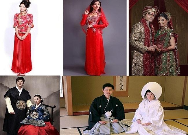 Những điều thú vị về trang phục truyền thống của các nước trong ngày cưới