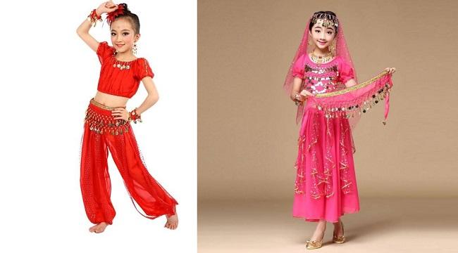 Các loại quần áo múa bụng trẻ em