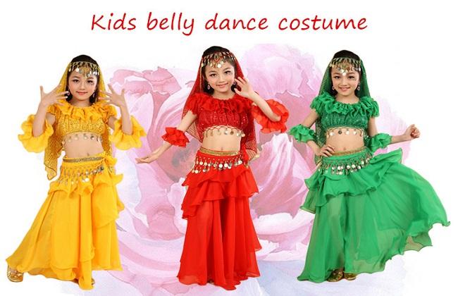 Thuê trang phục múa Ấn Độ cho bé