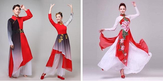 Trang phục áo dài múa ấn tượng