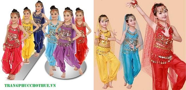 Trang phục múa Ấn Độ cho bé