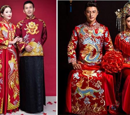 Áo khỏa - Trang phục cưới truyền thống của người Trung Quốc